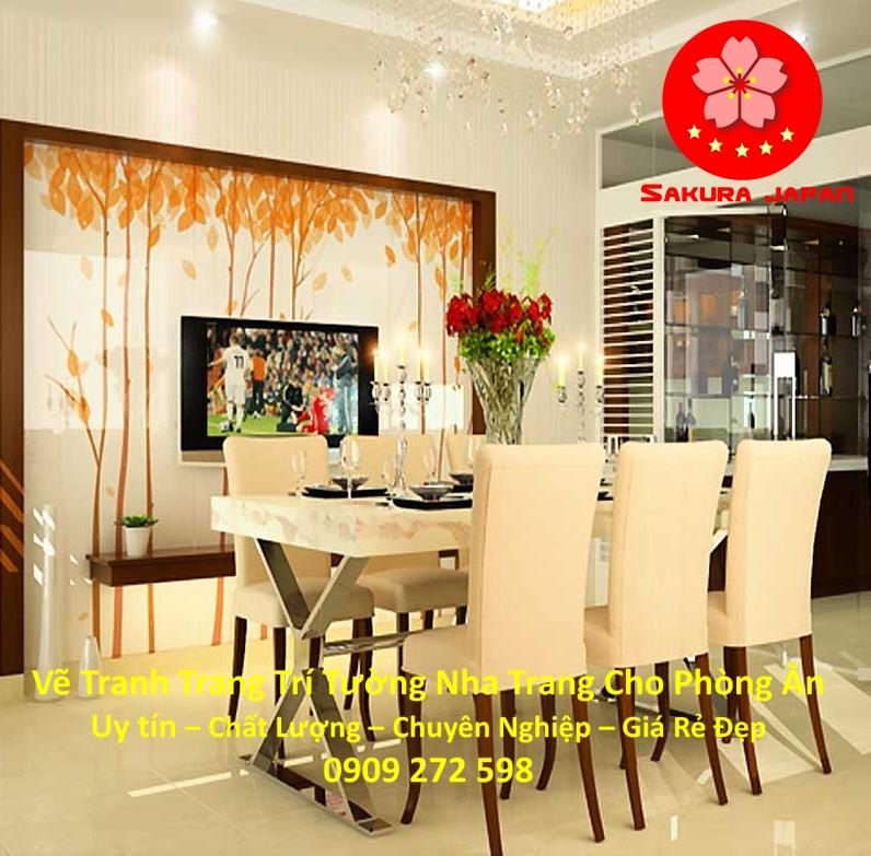 Vẽ Tranh Tường Nha Trang Cho Phòng Ăn Rẻ Đẹp Nhất 6