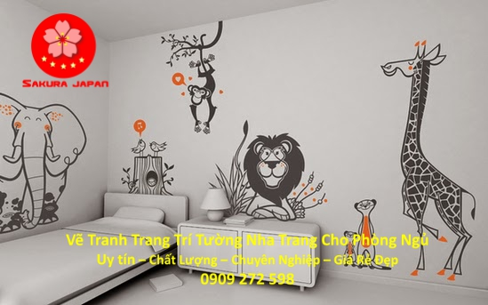 Vẽ Tranh Tường Nha Trang Cho Phòng Ngủ Rẻ Đẹp Nhất 2
