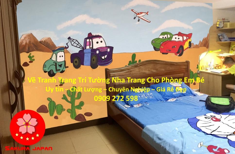 Vẽ Tranh tường Nha Trang cho Phòng Bé Rẻ Đẹp Nhất