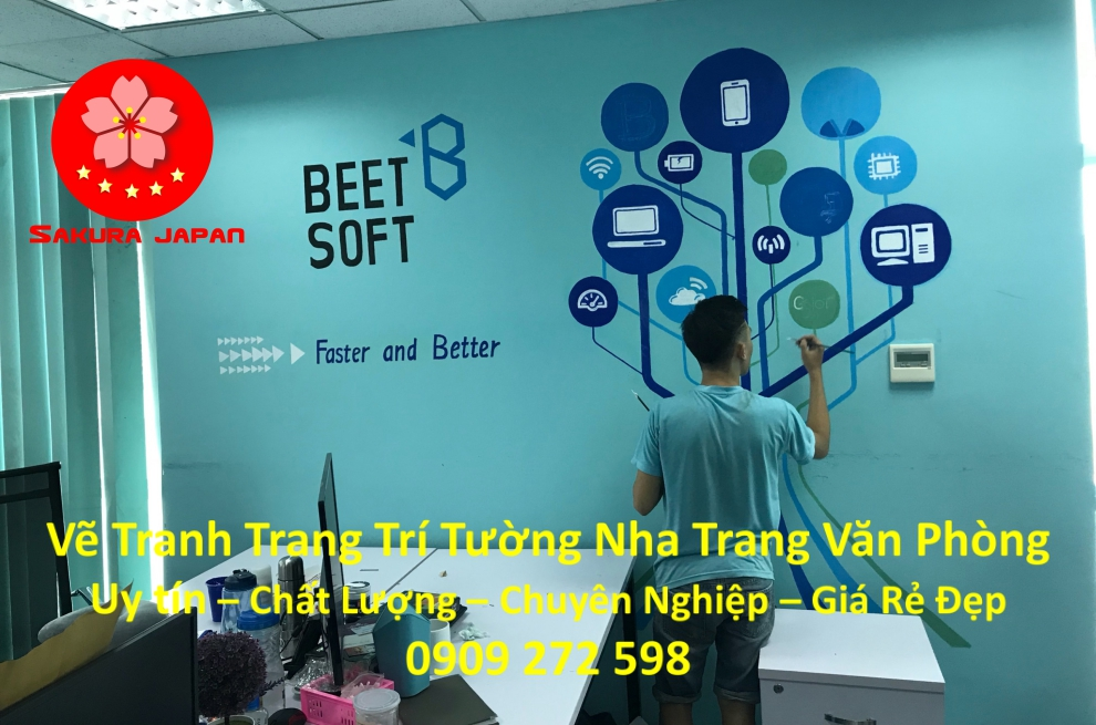 Vẽ Tranh Tường Nha Trang Cho Văn Phòng Rẻ Đẹp Nhất 6