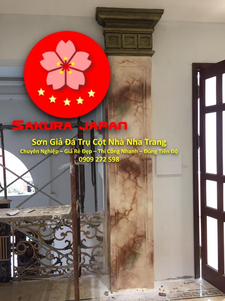 Dịch Vụ Sơn Giả Đá Trụ Cột Cổng Nhà Nha Trang
