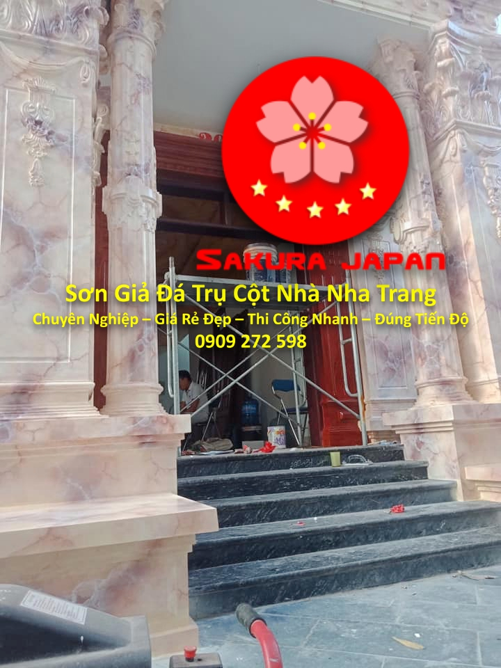 Sơn Giả Đá Trụ Cột Cổng Nhà Nha Trang Chuyên Nghiệp