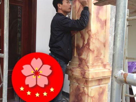 Sơn Giả Đá Trụ Cột Cổng Nhà Nha Trang