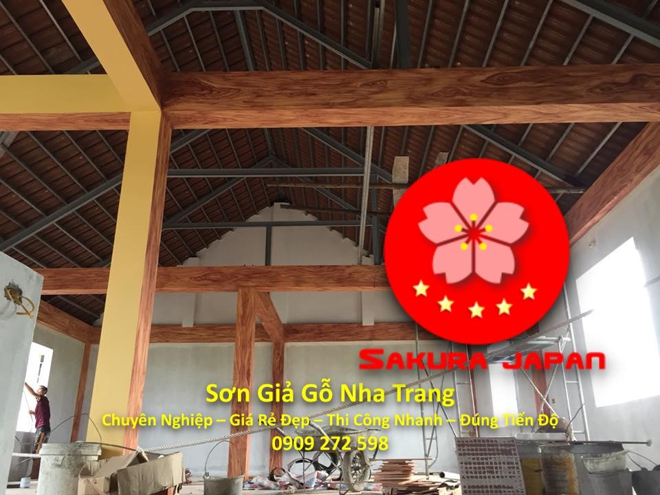 Dịch Vụ Sơn Giả Gỗ Nha Trang